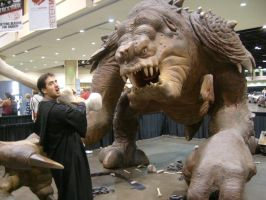 My brother vs Rancor by BennytheBeast