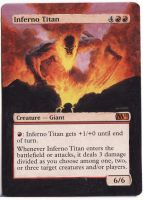 MTG Altered Art: Inferno Titan by LXu777