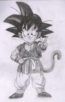 Kid Goku GT by kingvegito