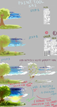 Quick background tutorial with Sai by Kirimimi