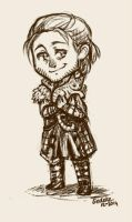 Tiny Anders (and cat) by Liedeke