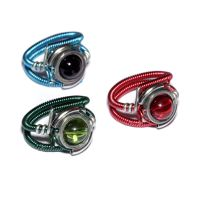 3 Colorful cyberpunk Ring by CatherinetteRings