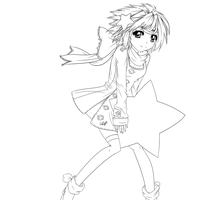 Shooting Star Lineart by Trin-ity
