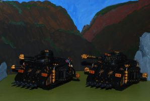 Iron Warriors Tanks by 12jack12