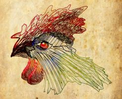 Paper Rooster by willowton