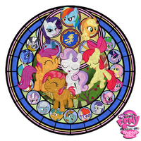 MLP FiM - Cutie Mark Crusaders - Stained Glass by GT4tube