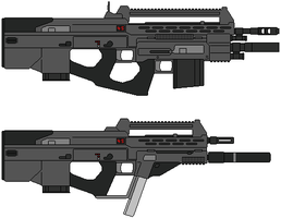 AR-71 Bangalter Assault Rifle by IgorKutuzov