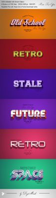 Retro Text Effects V1 by DigiMarkStudio