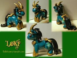 Loki Pony Pendant by balletvamp