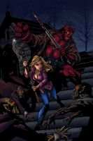 Buffy-Hellboy Cover: Colored by Casey-Bemis