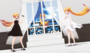 [MMD] Black White by LernkyPanda