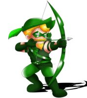 Green Arrow Chibi by ExoroDesigns
