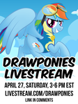Drawponies Livestream April 27, 3 to 6 pm EST by drawponies