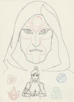Amon and Korra sketch by DeeDraws