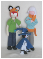 character plushies by Fox7XD