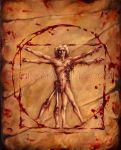 Vitruvian Zombie by billytackett