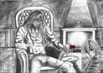 Victorian Alucard ~ Red Spots by UniverseQueen
