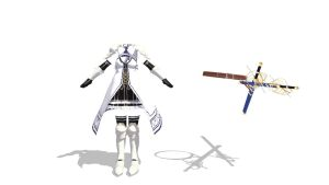 MMD white armor UPDATE Download by 9844