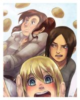 Shingeki no PhotoBooth: OH NO POTATOES by Cykranoshka