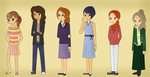 Professor Layton Girls - Different outfits? by kenabe