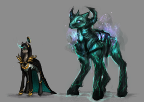 Mlp Magic golem pony and mage auction 64 closed by ElkaArt