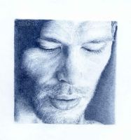 Joseph Morgan. Blue biro by artisticartery