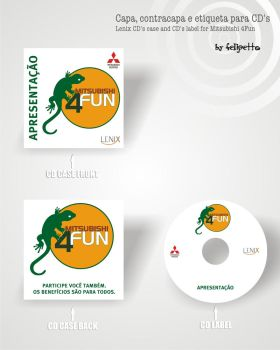 CD case and label from Mit4fun by felipetto