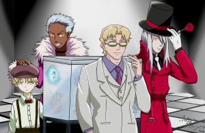 MI6 Members from Darker Than Black by ArtisticBang09