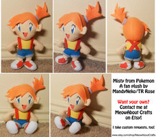 Misty from Pokemon - chibi doll fan plush by MandyNeko