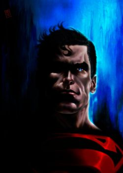 Superman portrait 2012 by barfast