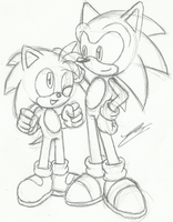 Monty and Sonic by Sonicguru
