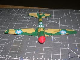dimeweight flying P40 papercraft 2 by falcon01