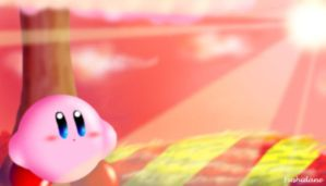 Kirby-Demented grass coloring by Fushidane
