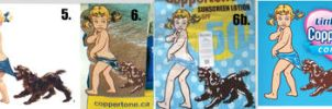 Coppertone Girl through the years by MJBivouac