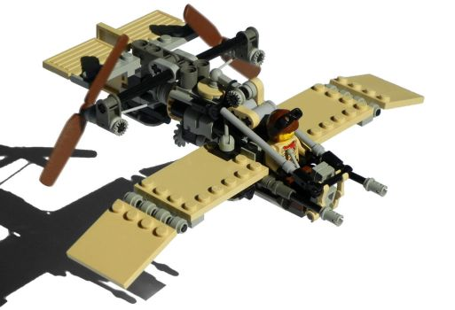 'Dragonfly' Super-Light Diesel Scout Plane Mk. XXX by RRaillery