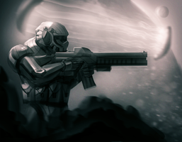 sci fi soldier by chunkslayer