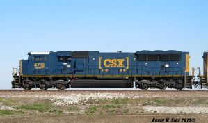 Box Car Logo SD70MAC CSXT # 4719 leads MCHPB-01 by EternalFlame1891