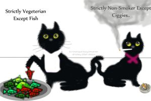 The Vegeterian Cat by sumangal16