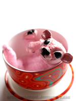 Tiny Baby in a Tea Cup by Metterschlingel