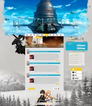 Sword Art Online Template - PSD FOR SALE! by mazeko