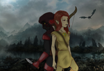 Shadow and Roxanne - Dragonborn by 6stringRaven