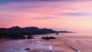 Canon Beach Sunset by La-Vita-a-Bella