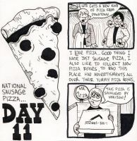 National Sausage Pizza Day by YourFathersMustache