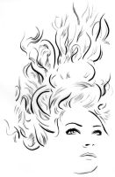 Illustration - Line triptych - Ocean Girl by TheLipGlossary