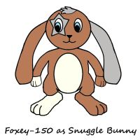 Foxey-150 as Snuggle Bunny by SchnuffelKuschel