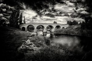 The Richmond Bridge II BW by Questavia