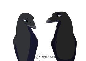 The Raven And His Wife by zavraan