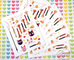 Sailor Moon Mini Sticker Sheet V2 Electric Boogalo by chat-noir