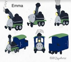 Emma the Locomotive by MJopaArtist