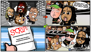 Ambrose, John Cena and Reigns - WWE Chibi Comic by kapaeme